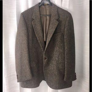 Vintage Harris Tweed Scottish Wool Sports Sz 46L